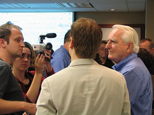 Doug Engelbart at the 2006 HyperScope release party - photo by Peter Kaminski