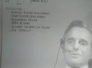 screenshot of Doug during 1968 demo