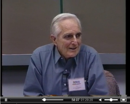 Doug Engelbart at the 1992 management seminar