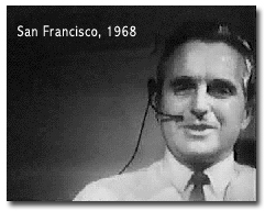 Doug Engelbart picutred in 1968 demo