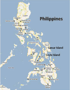 Map of Philippine island where Doug first encountered the article