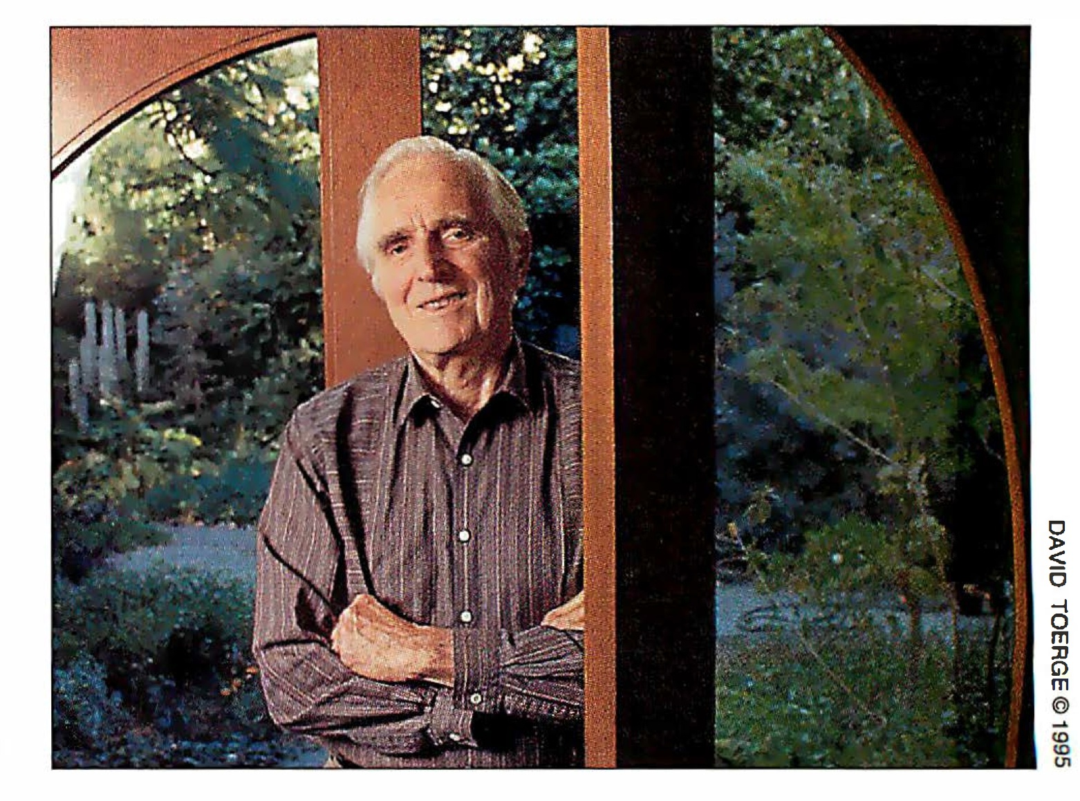 Photo of Doug in his home by David Toerge 1995